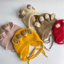 Cute Style Antlers Baby Knit Cap