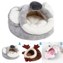 Cute Style Animal Shaped Plush Sleeping Bag for Pets