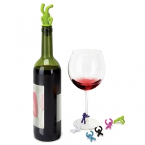 Creative Style Handstand Person Shaped Silicone Bottle Stopper