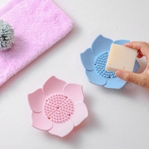 Creative Style Lotus Shaped Silicone Soap Holder