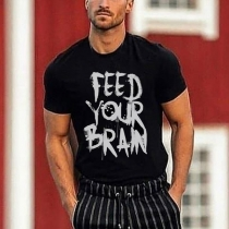Casual Style Short Sleeve Round Neck Letters Printed Man's T-shirt