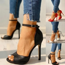 Sexy High-heeled Peep Toe Ankle Strap Sandals