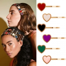 Simple Style Heart Hair-pin