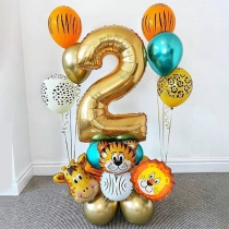 Cute Cartoon Pattern Birthday Decorations Balloon Kits
