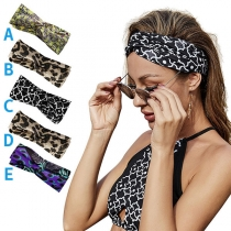 Bohemian Style Colorful Printed Crossover Head Band