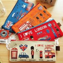 Creative Style Cartoon Printed Zipper Pen Bag  2 Piece Set