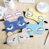 Cute Style Cartoon Pattern Breathable Shading Eye Mask  2 Piece/Set