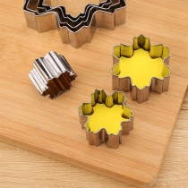 Creative Style Snowflake-shape Stainless Steel Cookie Cutter Mould Set 9 pcs/Set