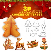 Creative Style Christmas Scenario Stainless Steel Cookie Cutter Mould Set 8 pcs/Set