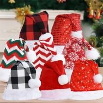 Cute Style Contrast Color Christmas Hat