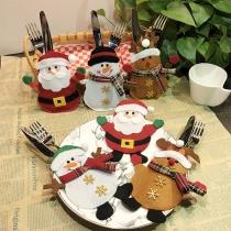 Creative Style Cartoon Christmas Knife & Fork Silverware Pockets Bags 2 Piece/Set