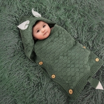 Cute Style 3D Ear Solid Color Side-button Baby Sleeping Bag