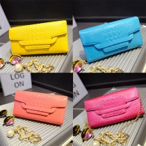 Fashion Crocodile Grain Clutch Shoulder Messenger Bag