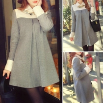 Fashion Casual Long Sleeve Maternity Warm Woolen Coat