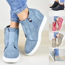 Fashion Wedge Heel Round Toe Shoes