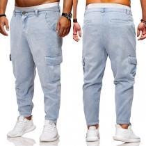 Fashion Side-pocket Men's Denim Harlan Pants