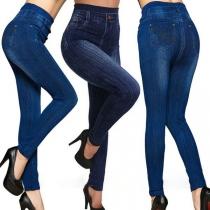 Fashion High Waist Slim Fit Stretch Leggings