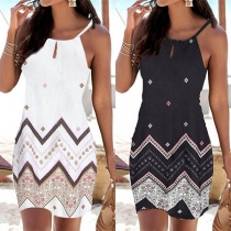 Fashion Printed Sling Dress