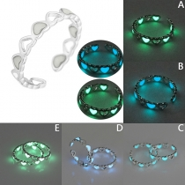 Fashion Glowing Hollow Out Heart-shaped Ring