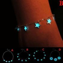 Fashion Blowing Star Pendant Bracelet