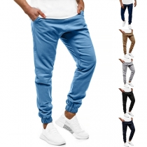 Fashion Solid Color Man's Casual Pants