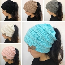 Fashion Hollow Out Knit Beanies
