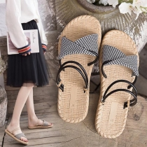 Simple Style Flat Heel Open Toe Multifunctional Sandals
