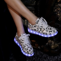 Fashion Colorful LED Glowing Couple Sneaker
