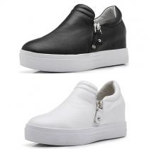 Fashion Round Toe Flat Heel Platform Shoes