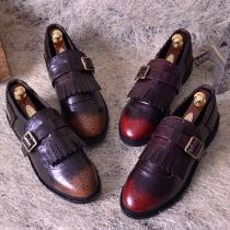 Retro British Style Round Toe Flat Heel All-match Shoes
