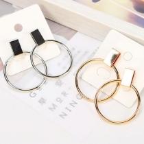 Fashion Geometric Cirlcle Shaped Earring
