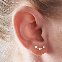 Simple Style Gold/Silver-tone Star Shaped Stud Earrings