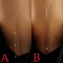 Fashion Rhinestone Inlaid Tassel Pendant Body Chain