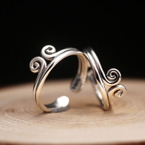Creative Style Spiral Shape Double Layer Open-end Ring