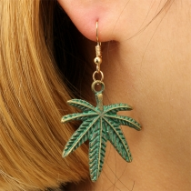 Creative Style Maple Leaf Shaped Earrings