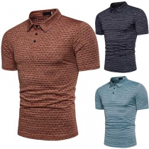Casual Style Short Sleeve POLO Collar Men's T-shirt