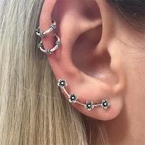 Simple Style Gold/Silver-tone Alloy Stud Earring Set 3 pcs/Set