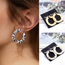 Simple Style O-shaped Alloy Earrings