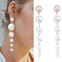 Fashion Bead Tassel Earrings