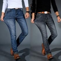 Fashion Middle Waist Slim Fit Men's Jeans