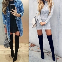 Fashion High-heeled Pointed Toe Over-the-knee Boots