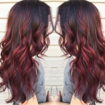 Fashion Color Gradient Long Curly Wigs