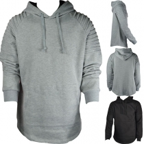 Fashion Solid Color Long Sleeve Man's Hoodie