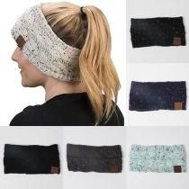 Fashion Mixed Color Knit Hair Band
