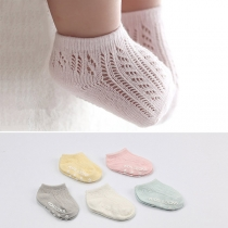 Fashion Hollow Out Breathable Anti-slip Socks for Babies  2 pair/Set