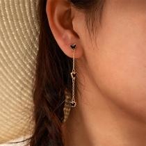 Fashion Butterfly Pendant Long Tassel Earrings
