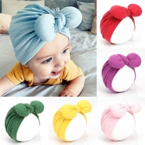 Cute Style Solid Color Knotted Bow-knot Baby Turban