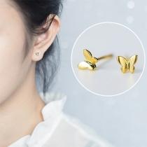 Cute Style Butterfly Shaped Stud Earrings