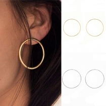 Simple Style Circle-shaped Alloy Earrings