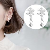 Fresh Style Snowflake Shaped Stud Earrings